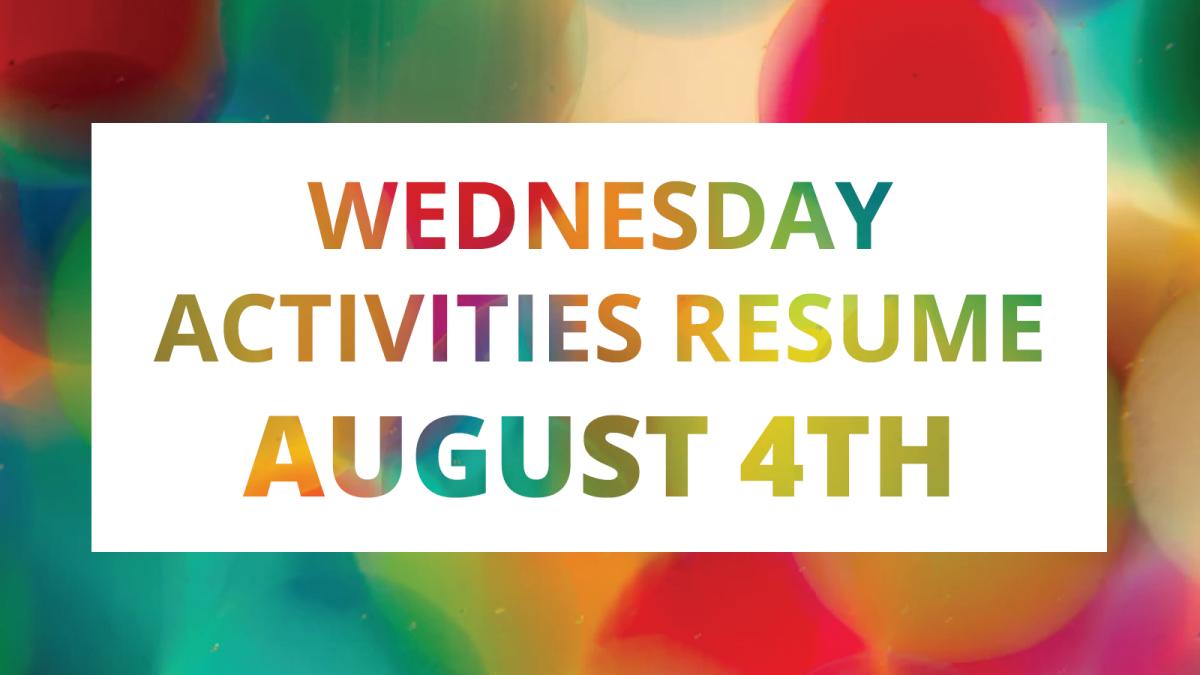Wednesday Activities Resume